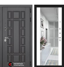Дверь Лабиринт NEW YORK с широким зеркалом - Белый soft