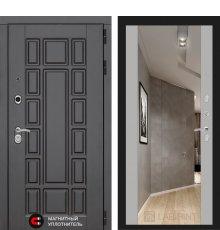 Дверь Лабиринт NEW YORK с Зеркалом Максимум - Софт Грей