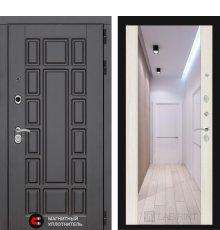 Дверь Лабиринт NEW YORK с Зеркалом Максимум - Сандал белый