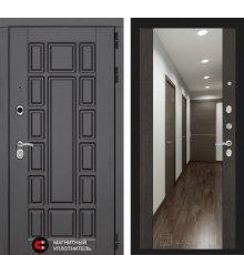 Дверь Лабиринт NEW YORK с Зеркалом Максимум - Венге