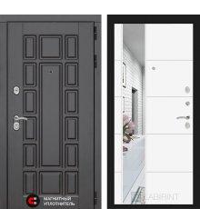 Дверь Лабиринт Нью-Йорк с Зеркалом 19 - Белый софт