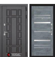 Дверь Лабиринт NEW YORK 20 - Бетон темный, зеркальные вставки