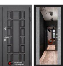 Дверь Лабиринт NEW YORK с Зеркалом Максимум - Бетон светлый