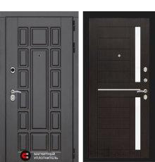 Дверь Лабиринт Нью-Йорк 02 - Венге, стекло белое