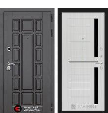 Дверь Лабиринт Нью-Йорк 02 - Сандал белый, стекло черное