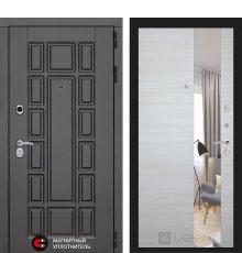 Дверь Лабиринт Нью-Йорк с Зеркалом - Акация светлая горизонтальная