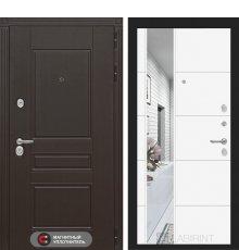 Дверь Лабиринт Мегаполис с Зеркалом 19 - Белый софт