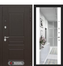 Дверь Лабиринт Мегаполис с зеркалом Максимум - Белый софт