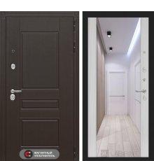Дверь Лабиринт Мегаполис с зеркалом Максимум - Сандал белый