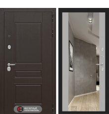 Дверь Лабиринт  Мегаполис с зеркалом Максимум - Софт Грей