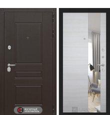 Дверь Лабиринт  Мегаполис с Зеркалом - Акация светлая горизонтальная