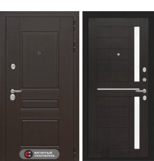 Дверь Лабиринт Мегаполис 02 - Венге, стелко белое