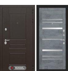 Дверь Лабиринт  Мегаполис 20 - Бетон темный, зеркальные вставки