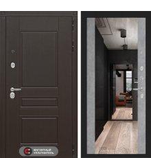 Дверь Лабиринт Мегаполис с зеркалом Максимум - Бетон светлый