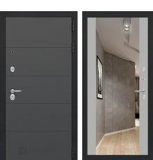Дверь Лабиринт ART графит с Зеркалом Максимум - Грей софт
