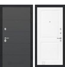 Дверь Лабиринт ART графит 11 - Белый софт