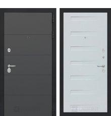 Дверь Лабиринт ART графит 14 - Дуб кантри белый горизонтальный