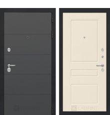 Дверь Лабиринт ART графит 03 - Крем софт