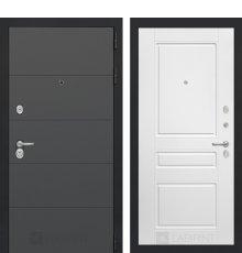 Дверь Лабиринт ART графит 03 - Белый софт