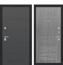 Дверь Лабиринт ART графит 06 - Сандал серый