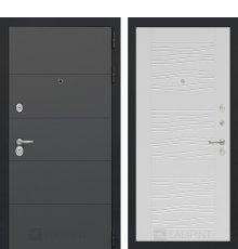 Дверь Лабиринт ART графит 06 - Белое дерево