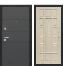 Дверь Лабиринт  ART графит 12 - Беленый дуб