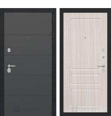 Дверь Лабиринт  ART графит 03 - Сандал белый
