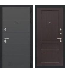 Дверь Лабиринт ART графит 03 - Орех премиум