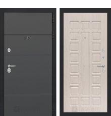 Дверь Лабиринт ART графит 04 - Беленый дуб
