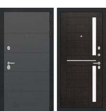 Дверь Лабиринт ART графит 02 - Венге, стекло белое