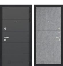 Дверь Лабиринт ART графит 21 - Бетон светлый