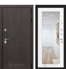 Дверь Лабиринт URBAN с Зеркалом 18 - Белое дерево