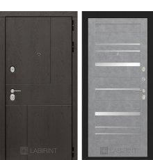 Дверь Лабиринт URBAN 20 - Бетон светлый, зеркальные вставки