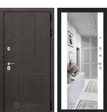 Дверь Лабиринт URBAN с Зеркалом Максимум - Белый софт