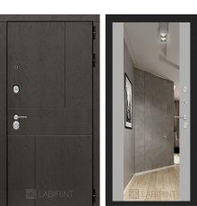 Дверь Лабиринт  URBAN с Зеркалом Максимум - Грей софт