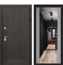 Дверь Лабиринт URBAN с Зеркалом Максимум - Бетон светлый