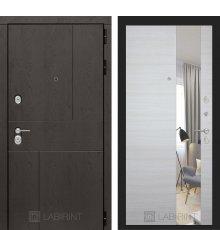 Дверь Лабиринт URBAN с Зеркалом - Акация светлая горизонтальная