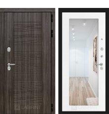 Дверь Лабиринт SCANDI с Зеркалом 18 - Белое дерево