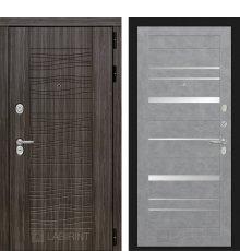 Дверь Лабиринт SCANDI 20 - Бетон светлый, зеркальные вставки