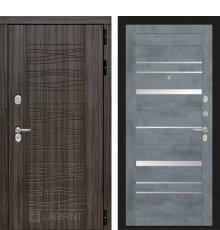 Дверь Лабиринт  SCANDI 20 - Бетон темный, зеркальные вставки