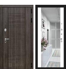 Дверь Лабиринт SCANDI Дарк грей с Зеркалом Максимум - Белый софт
