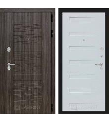 Дверь Лабиринт SCANDI 14 - Дуб кантри белый горизонтальный