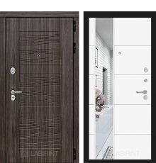 Дверь Лабиринт SCANDI с Зеркалом 19 - Белый софт