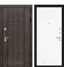 Дверь Лабиринт SCANDI Дарк грей 07 - Белое дерево