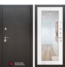 Дверь Лабиринт SILVER с Зеркалом 18 - Белое дерево
