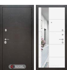 Дверь Лабиринт SILVER с Зеркалом 19 - Белый софт
