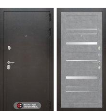 Дверь Лабиринт SILVER 20 - Бетон светлый, зеркальные вставки