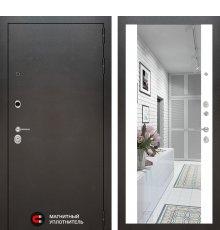 Дверь Лабиринт SILVER с Зеркалом Максимум - Белый софт