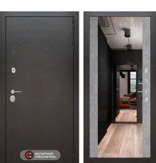 Дверь Лабиринт SILVER с Зеркалом Максимум - Бетон светлый