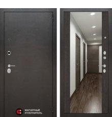 Дверь Лабиринт SILVER с Зеркалом Максимум - Венге